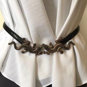 Chico's Leather Belt Sz S/M